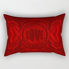 heart center red Rectangular Pillow