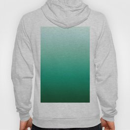 Ombre Teal Green Gradient Pattern Hoody