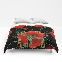 Poppy Stravaganza Comforters