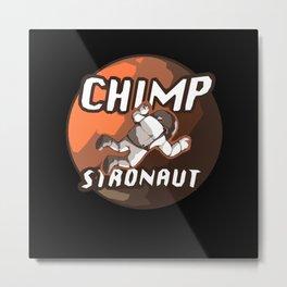 Chimpstronaut Astronaut Chimpanzee Metal Print