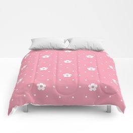 Delicate Pink Flower Pattern Comforters