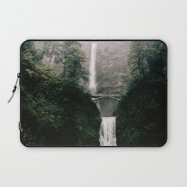 Multnomah Falls Waterfall in October - Landscape Photography Laptop Sleeve