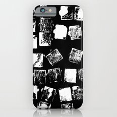 Stamp Black and White iPhone 6s Slim Case