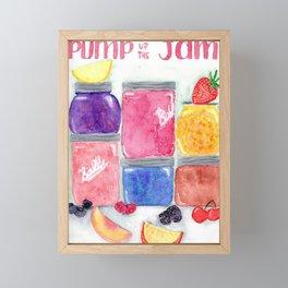 Pump up the jam Framed Mini Art Print