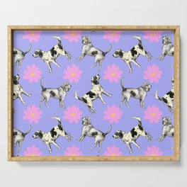 CUTE BEAGLES PATTERN Serving Tray