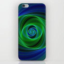 Green blue infinity iPhone Skin