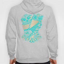 Owls – Turquoise & Gold Hoody
