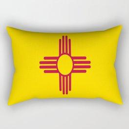 flag new mexico-usa,america,sun,Zia Sun symbol,New Mexican,Albuquerque,Las Cruces,santa fe,roswell Rectangular Pillow