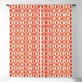 Mid-Century Modern Diamonds, Orange and White Blackout Curtain