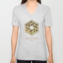 Forest & Axe — Illustrated Quote Unisex V-Neck