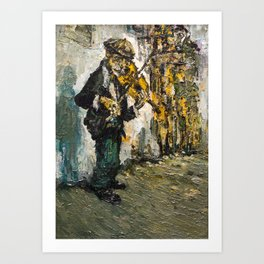 street musician playing on violin Art Print