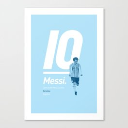 Messi Argentina 10 Canvas Print