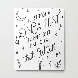 Truth Hurts Witch Metal Print