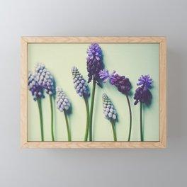 Pretty Blue Flowers Framed Mini Art Print