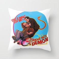 Demon Deals Throw Pillow