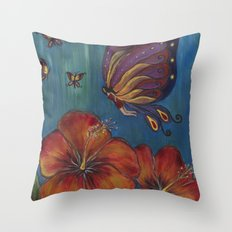 Butterfly Fairy Throw Pillow
