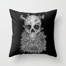 Lumbermancer B/W Throw Pillow