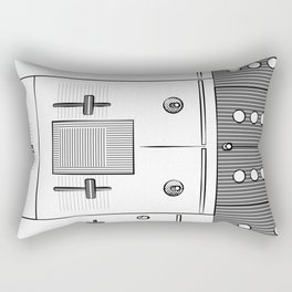 Dj Mixer illustration - 90s music equipment - sketch pop art drawing Rectangular Pillow