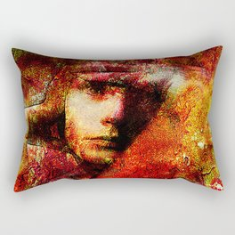 Spirit torments   (This Artwork is a collaboration with the talented artist Timothy Davis ) Rectangular Pillow