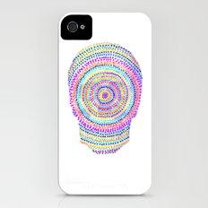 divisionism skull mandala Slim Case iPhone (4, 4s)