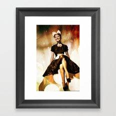 Audrey Hepbur vintage photo Framed Art Print