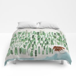 the green forest Comforters