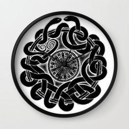 Tangled Serpents at Midnight Wall Clock