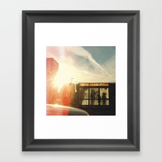 Bus Stop - Woodward Ave Framed Art Print