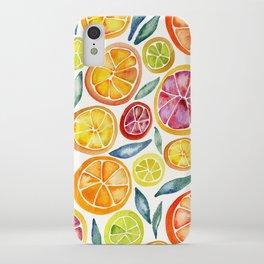 Sliced Citrus Watercolor iPhone Case