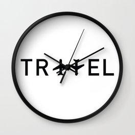 Travel and enjoy Wall Clock