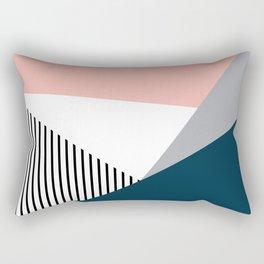 Colorful geometry 2 Rectangular Pillow