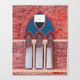 Finestra a Siena Canvas Print