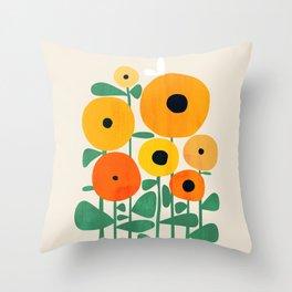 Sunflower and Bee Deko-Kissen