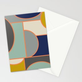 Colorful Geometric Cubism Design Stationery Cards