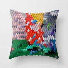 Geometric Wood Throw Pillow