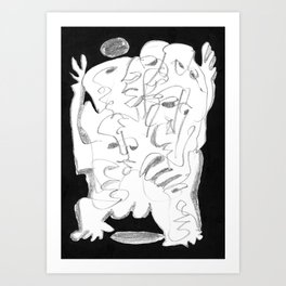 Abomination - b&w Art Print