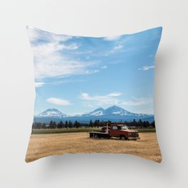 Ranch Truck outside of Sisters, Oregon Throw Pillow