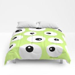 Eyeballs for Halloween Comforters