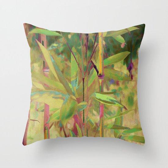 Painted Bamboo Throw Pillow