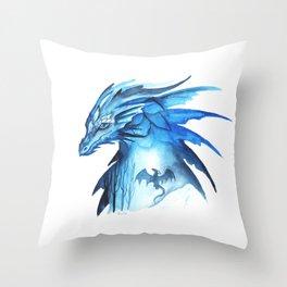 Winter flight Throw Pillow