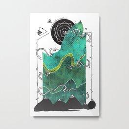 Northern Nightsky Metal Print