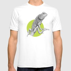 Lizard MEDIUM Mens Fitted Tee White