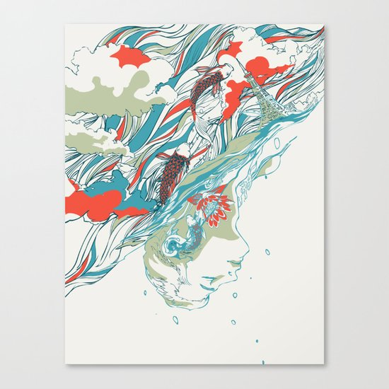 Colours In The Sky Canvas Print