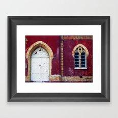 Red-Washed Framed Art Print
