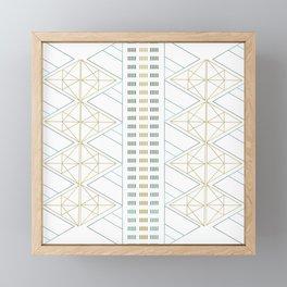 Gold Aqua Geometric Pattern 1.0 Framed Mini Art Print