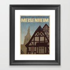 Vintage Travel Poster n°1 Framed Art Print