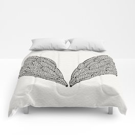 Black Cicada Wings Comforters