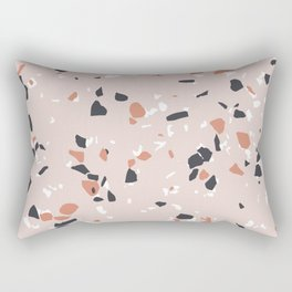 Terrazzo Pink Rectangular Pillow