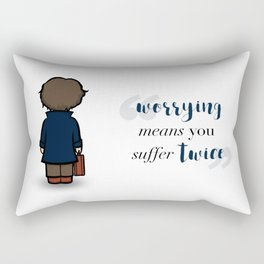 Worrying means you suffer twice - Newt Scamander Rectangular Pillow
