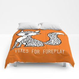 Foxes for Foreplay Comforters